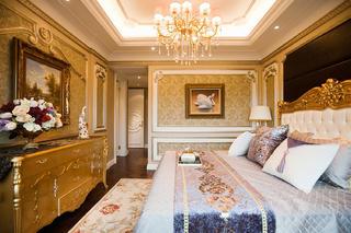 140平法式装修卧室墙面设计