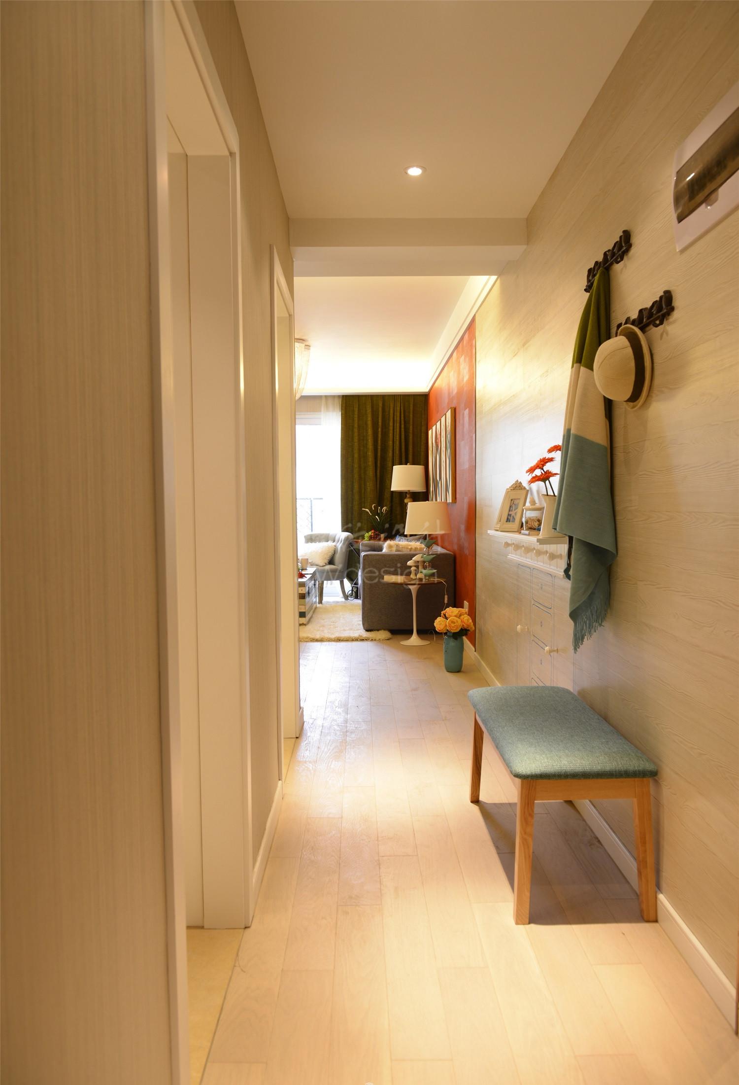 60平小户型设计门厅走廊