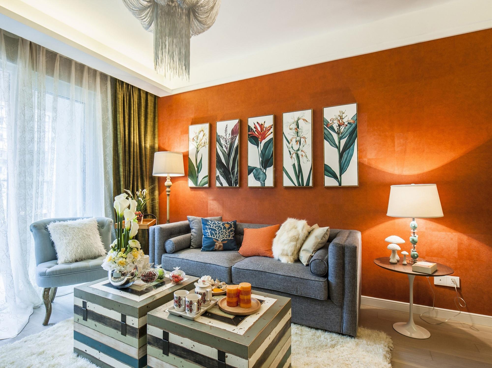 60平小户型设计沙发背景墙图片