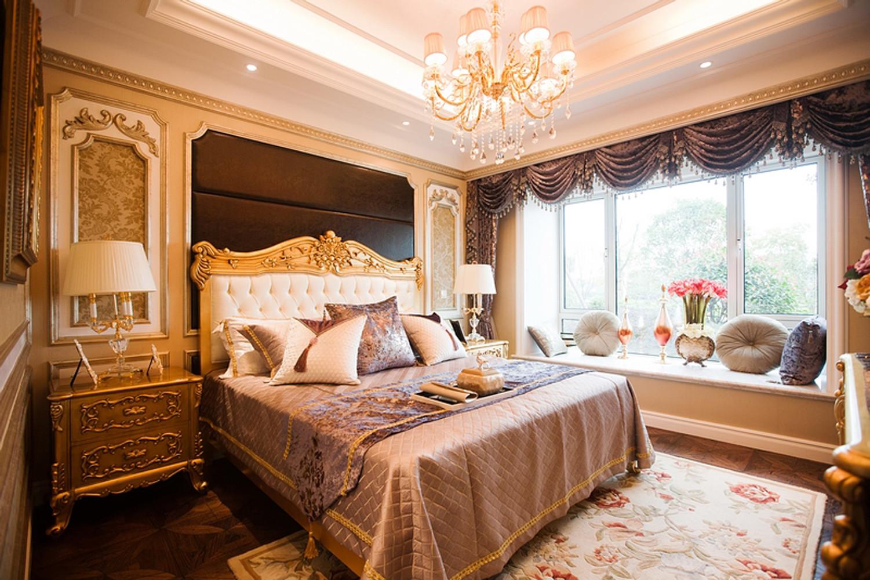 140平法式装修卧室效果图