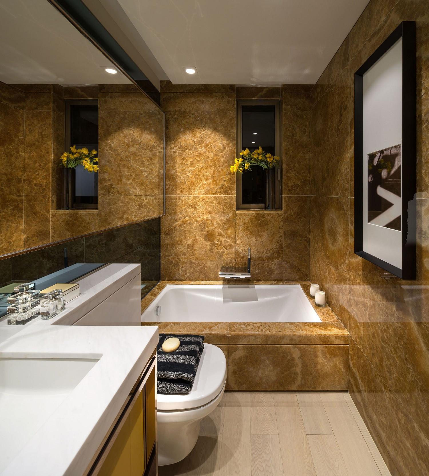 低调奢华的现代风装修卫生间装潢图