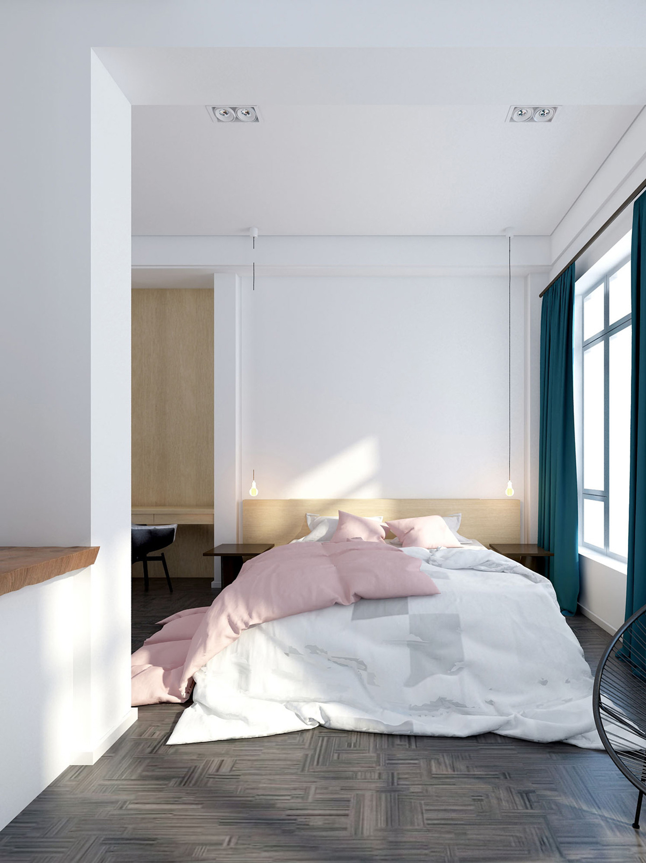混搭别墅装修卧室效果图
