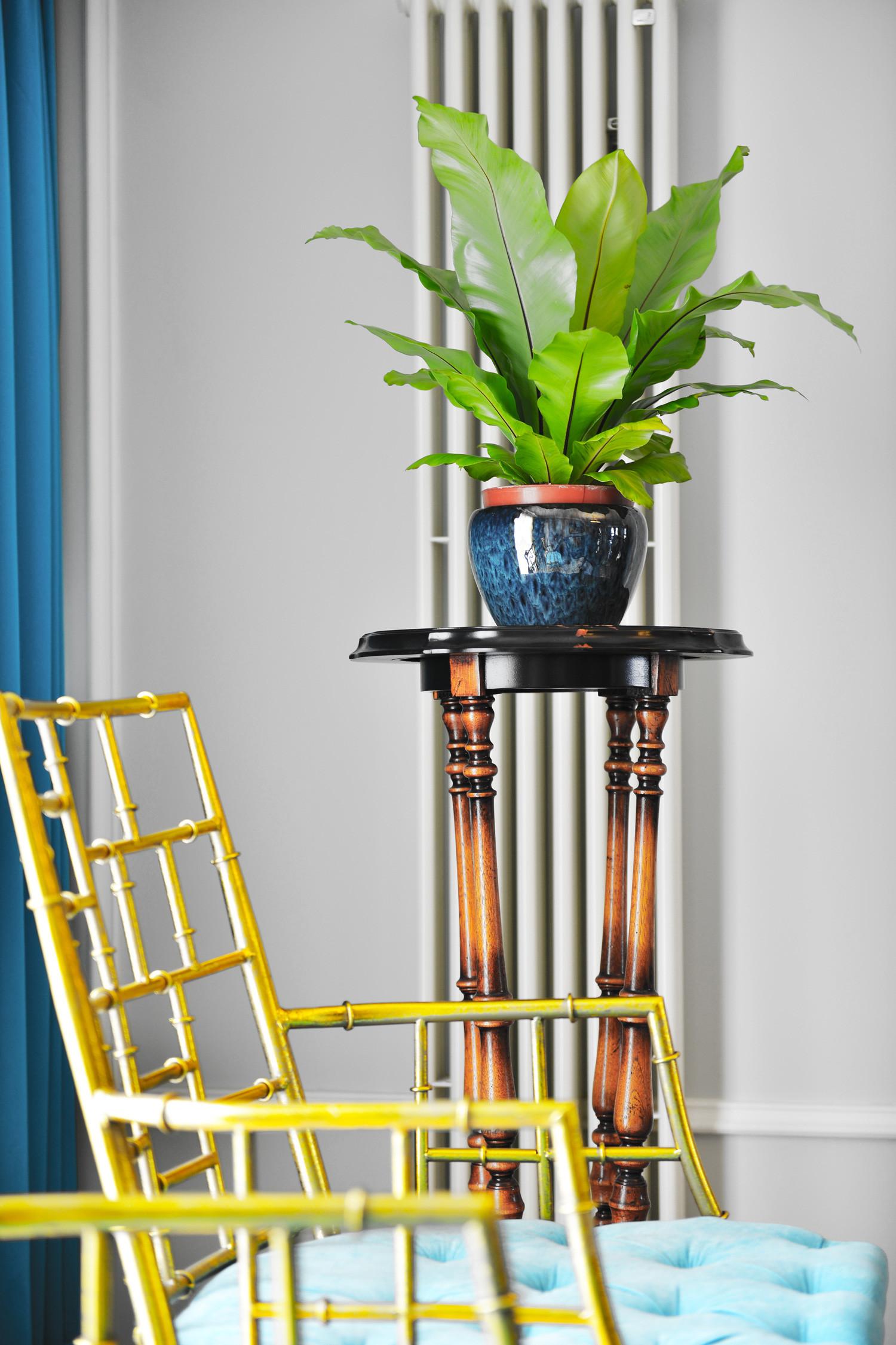 140平美式三居装修花架图片