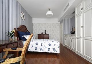 美式风格别墅装修床头背景墙图片