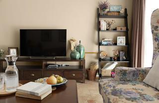 130平简约美式装修电视背景墙图片