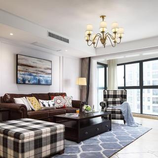 145㎡美式四居室装修设计图