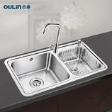 欧琳水槽 OL2206双槽+OL8033龙头套餐 |