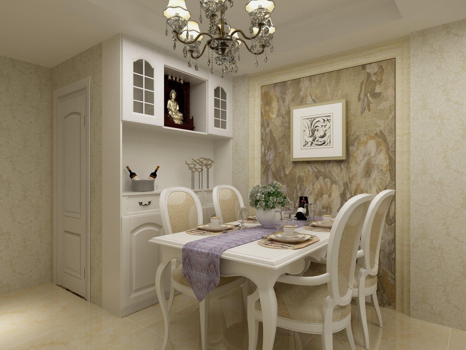 欧式三居装修餐边柜图片