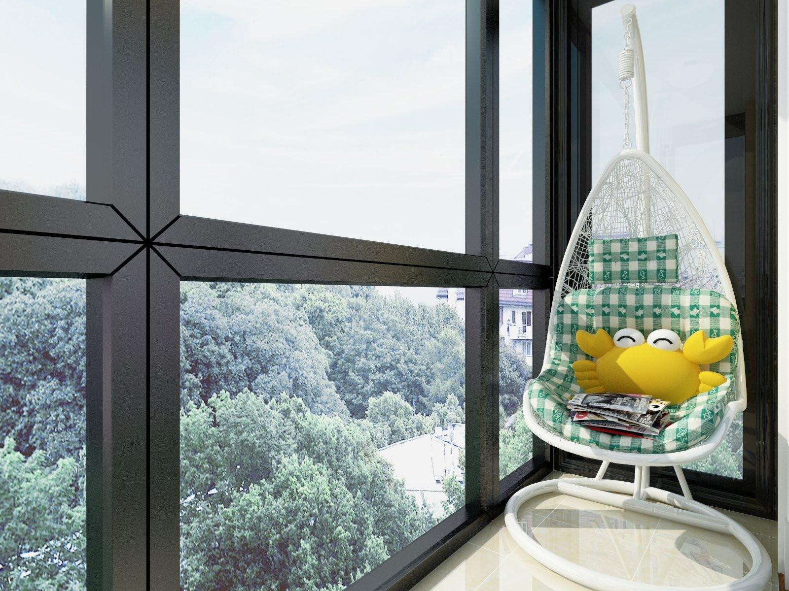 欧式三居装修阳台设计图