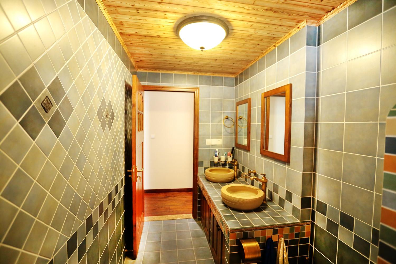 三居室美式乡村家洗手台图片