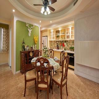 美式风格三居 给家一抹绿