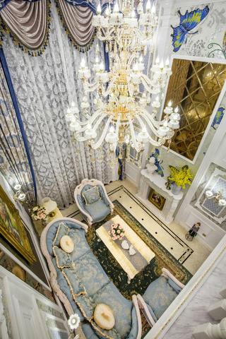豪华欧式装修客厅俯瞰图