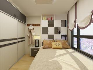 60平简约装修卧室效果图