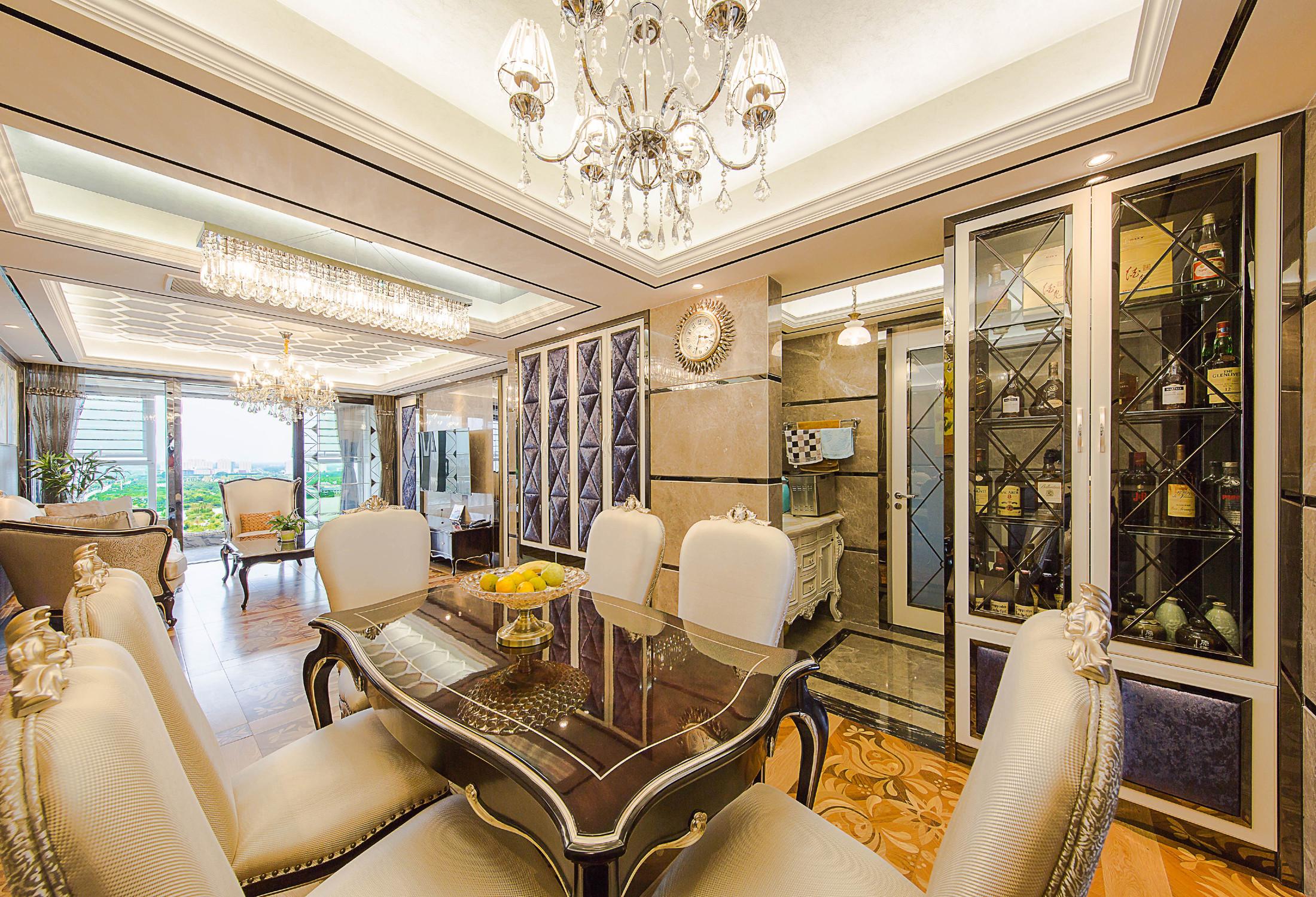 新古典三居室装修餐桌图片