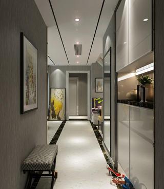 90㎡现代简约二居装修门厅走廊图片