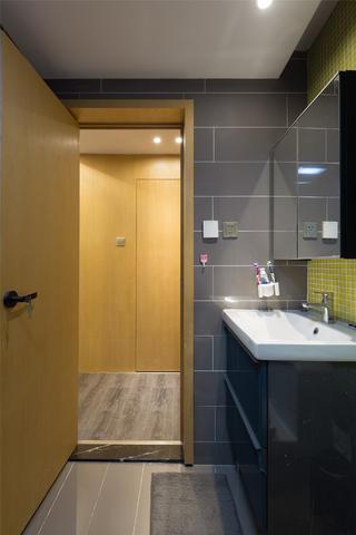 现代简约二居设计洗手台图片