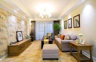 110㎡美式风格家客厅设计图