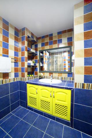 110㎡美式风格家浴室柜图片