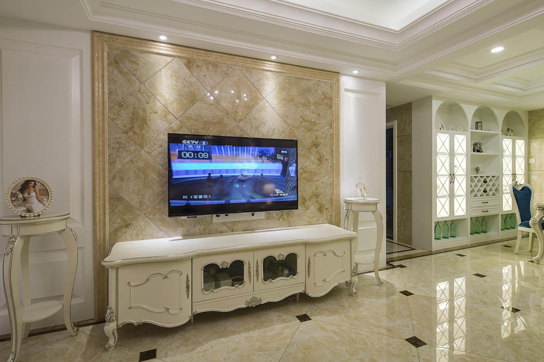 欧式四居装修电视背景墙图片