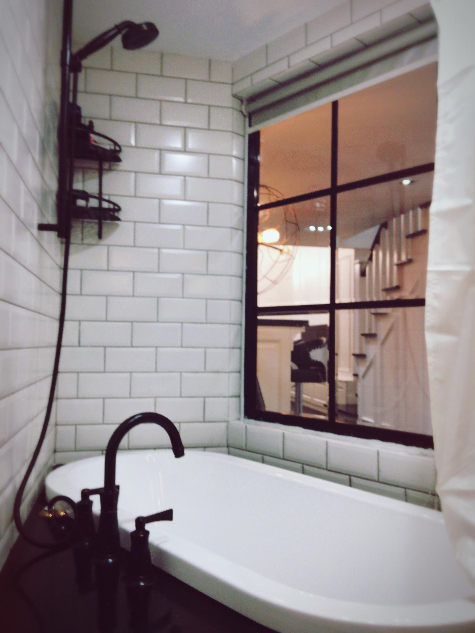 70平摩登LOFT风装修浴缸图片