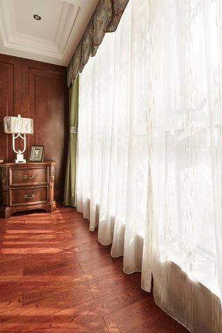 美式复式装修设计窗帘图片