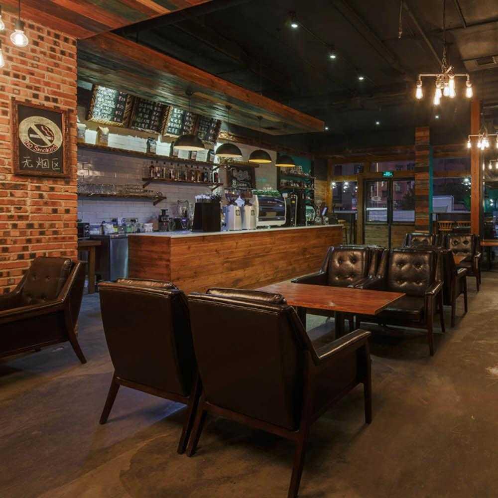 工業風咖啡館裝修圖片