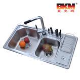 贝克玛卫浴不锈钢双斗水槽 BKMSC9046 304拉丝面 不含龙头|样品处理 限量三套售完为止