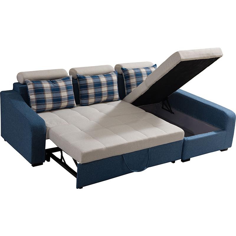 新款小户型布艺多功能沙发床拉床转角沙发可拆洗贵妃储物沙发108B|1.颜色可定制搭配;2.尺寸可调整;3.沙发当床又储物