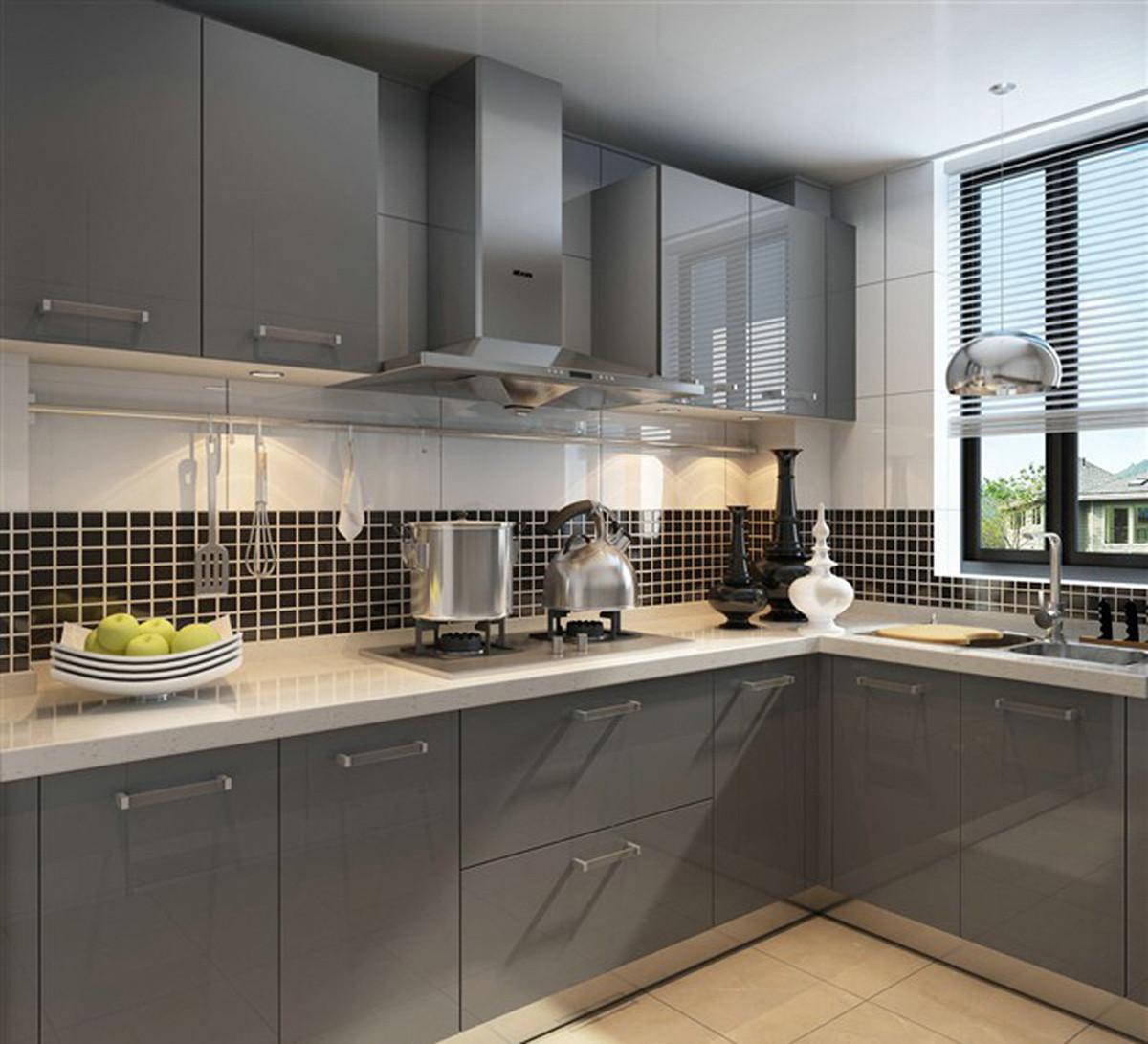 90㎡现代简约二居装修厨房设计图