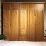 居美印尚 松木实木 卧室系列 松木五门衣柜