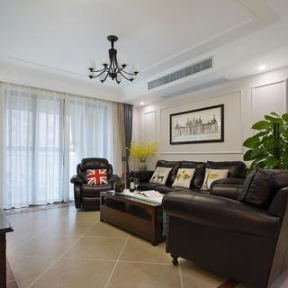 145平美式三居装修设计图