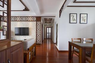130平中式风格家走廊图片