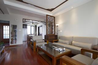 130平中式风格家沙发背景墙图片