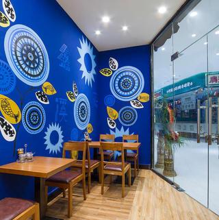 90平快餐店装修设计图