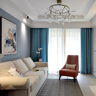 二居室美式风格家 淡蓝装点