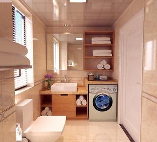 90㎡现代简约二居装修卫生间效果图