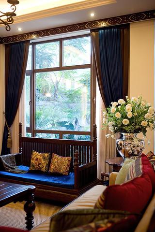 东南亚休闲别墅装修沙发图片