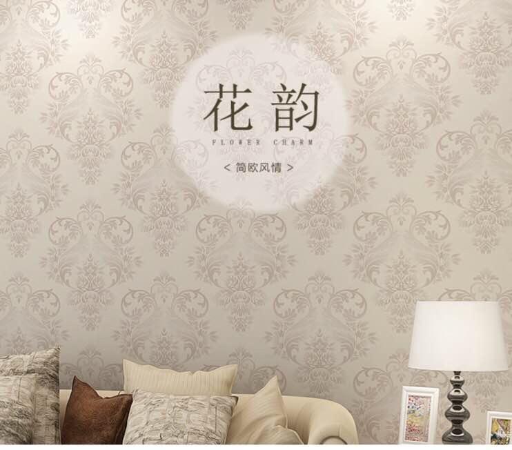 玉兰墙纸欧式功能性壁纸卧室客厅电视背景墙纸 简欧风情