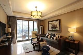 108平中式风之家客厅欣赏图