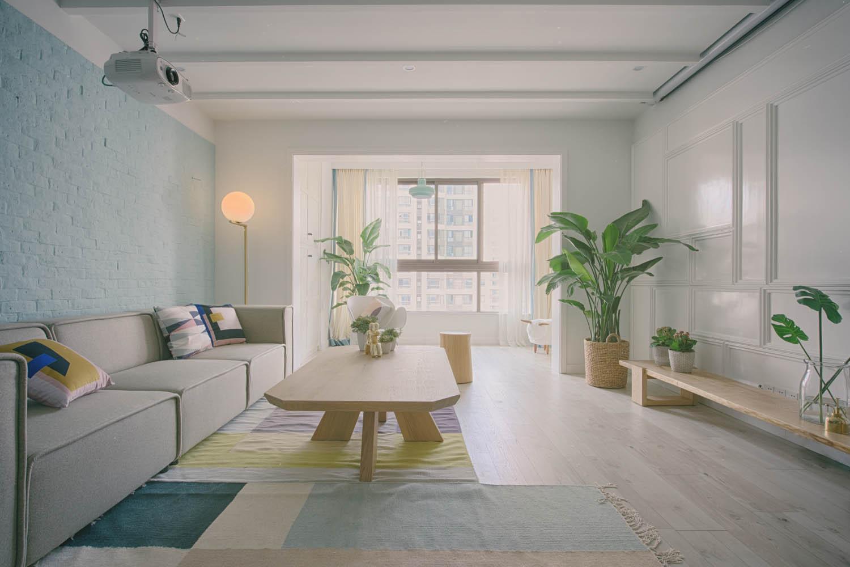 北欧风格三居室装修客厅效果图图片