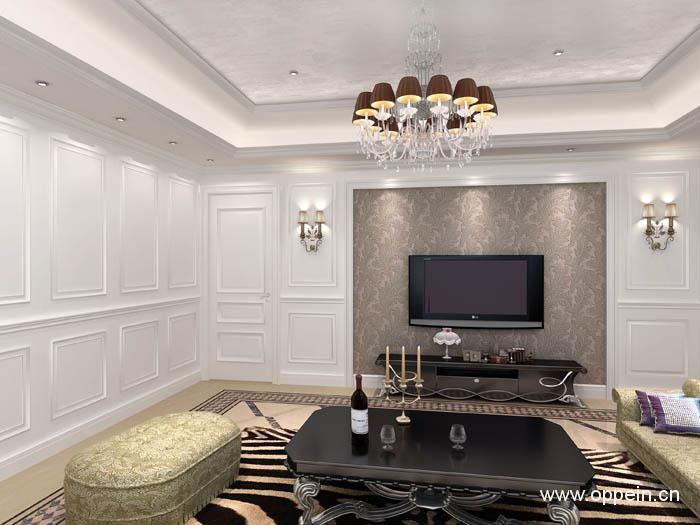 居美印尚实木复合烤漆护墙板-隐形门