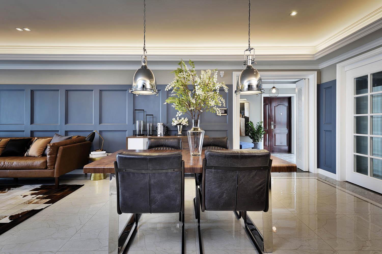 美式公寓装修餐桌椅图片
