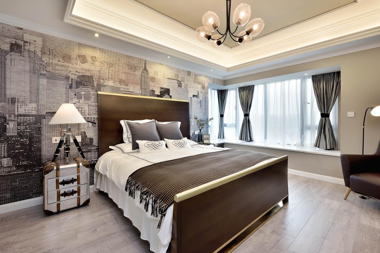 美式公寓装修主卧设计图