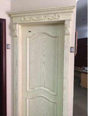 实木复合开放漆带压线门(不含门头,罗马柱)