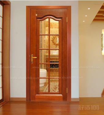 实木压线玻璃门