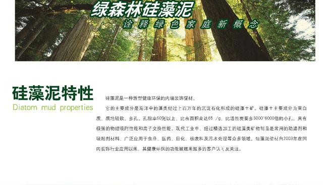 绿森林硅藻泥 环保调湿除甲醛涂料 电视背景墙 diy