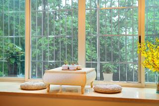 87平美式乡村风格家飘窗设计