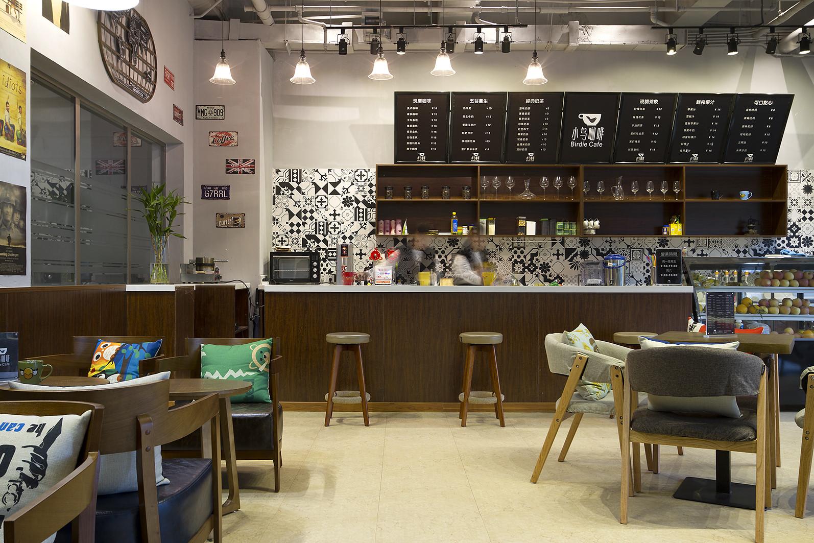 工业风咖啡厅装修吧台设计
