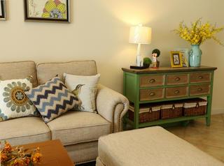 美式三居空间沙发图片