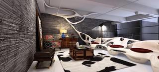 生活咖啡馆装修休闲区设计图